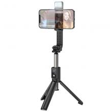Cелфи штатив тренога  Hoco K15 с LED подсветкой Black (000000503951)