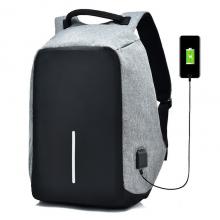 Рюкзак городской Bobby антивор c защитой, выход USВ Серый