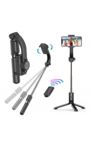 Селфи-держатель Gimbal GS-30 с функциею стабилизации телефона та Bluetooth пультом дистанционного управления Black