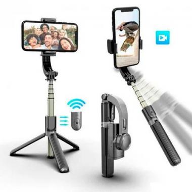 Селфи-держатель Gimbal L08 с функциею стабилизации телефона та Bluetooth пультом дистанционного управления Black