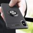"""Чехол на Айфон XS Max (6.5"""") Deen с кольцом под магнитный держатель Черный"""