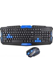Клавиатура игровая Беспроводная  KEYBOARD HK-8100 Plyus мыш 1600 DPI Черная