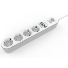 Сетевой фильтр-удлинитель c USB-портов LDNIO 4432 Белый