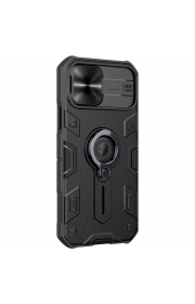 "Чехол на Айфон 12 mini (5.4"")  Nillkin с шторка на камеру Черный"