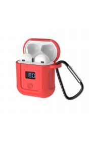 Наушники для ЭПЛ и Андроида HOCO S11 + красный силиконовый футляр Белый