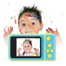 Детский цифровой фотоаппарат Summer Kids Camera Слот для microSD возможность подключения к ПК Yellow/Blue