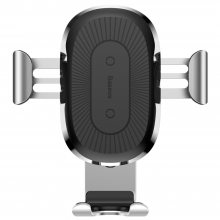 Автомобильный держатель с БЗУ Baseus Wireless Charger Gravity Car Mount Air Outlet Version 1.67A 10W Серебряный