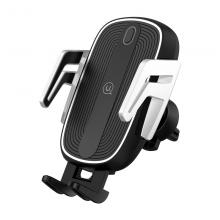 Держатель автомобильный с БЗУ USAMS US-CD100 Automatic Touch Induction Wireless Charging Черный