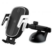 Держатель автомобильный с БЗУ USAMS US-CD101 Automatic Touch Induction Wireless Charging Черный