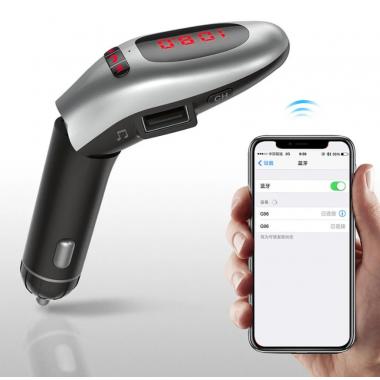 FM-трансмиттер Автомобильный Wireless G96 Bluetooth, громкая связь Black
