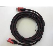 Кабель HDMI на HDMI (V1.4) UTM  с фильтром в тканевой оболочке 5 метров Черный