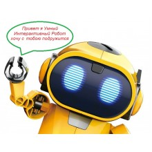 """Интерактивный Робот-Конструктор, Tobbie Robot """"умный робот, собранный своими руками – что может быть лучше."""" Желтый"""