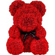 Мишка из 3D роз 25 см в красивой подарочной упаковке мишка UTM Тедди из роз оригинальный подарок