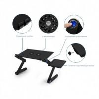 Стол для ноутбука Портативный  трансформер  UTM Laptop Table T8 Черный