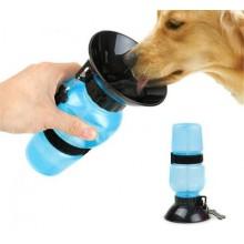 Дорожная поилка для собак Aqua Dog 550 млПРОГУЛОЧНАЯ БУТЫЛКА С ЧАШЕЙ Blue