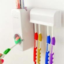 Дозатор автоматический зубной пасты Touch Me Toothpaste Dispenser с держателем зубных щеток Toothbrush holder