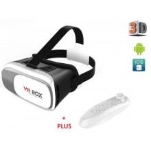 Очки 3D виртуальной реальности VR BOX 2.0 с пультом Белый