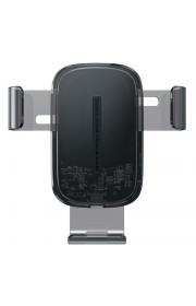 Держатель для телефона в машину Baseus с беспроводной зарядкой Explore Gravity Car Mount 15W Черный