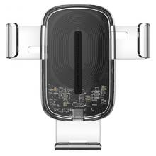 Держатель для телефона в машину Baseus с беспроводной зарядкой Explore Gravity Car Mount 15W Прозрачный