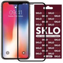 """Защитное стекло  для Apple iPhone (Айфона) 11 / XR (6.1"""") SKLO 3D Черный"""