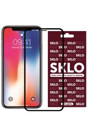 """Защитное стекло для Apple iPhone (Айфона) 11 Pro / X / XS (5.8"""") SKLO 3D Черный"""
