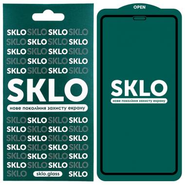 """Защитное стекло для Apple iPhone (Айфона) 12 Pro Max  SKLO 5D (6.7"""") Черный"""