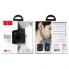 Наушники для ЭПЛ и Андроида  HOCO S11 + чёрный силиконовый футляр Черный
