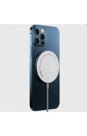 Беспроводное зарядное устройство Usams US-CD155 for iPhone 12, 15W, Type-C (магнитный) Белый